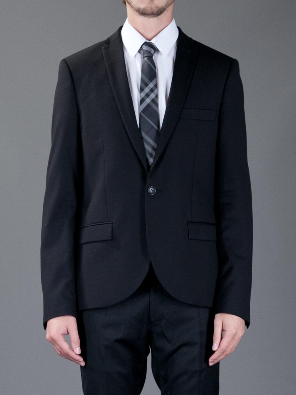 0cedf5a03baf ... promo code lyst burberry check silk tie in black for men 869a0 3909e