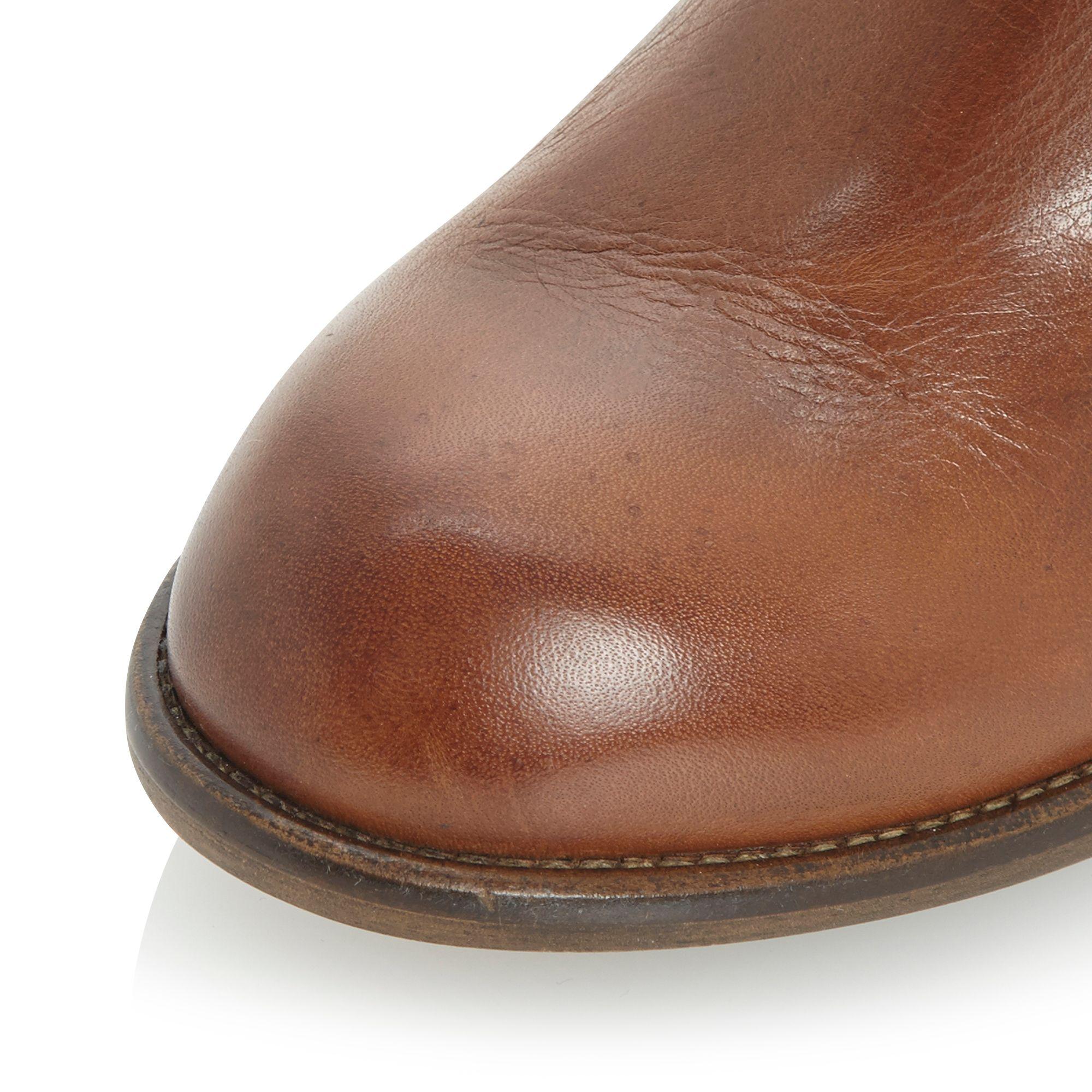 Dune Pash Diagonal Side Zip Boots in Tan (Brown)