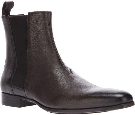 santoni chelsea boot in black for men brown lyst. Black Bedroom Furniture Sets. Home Design Ideas