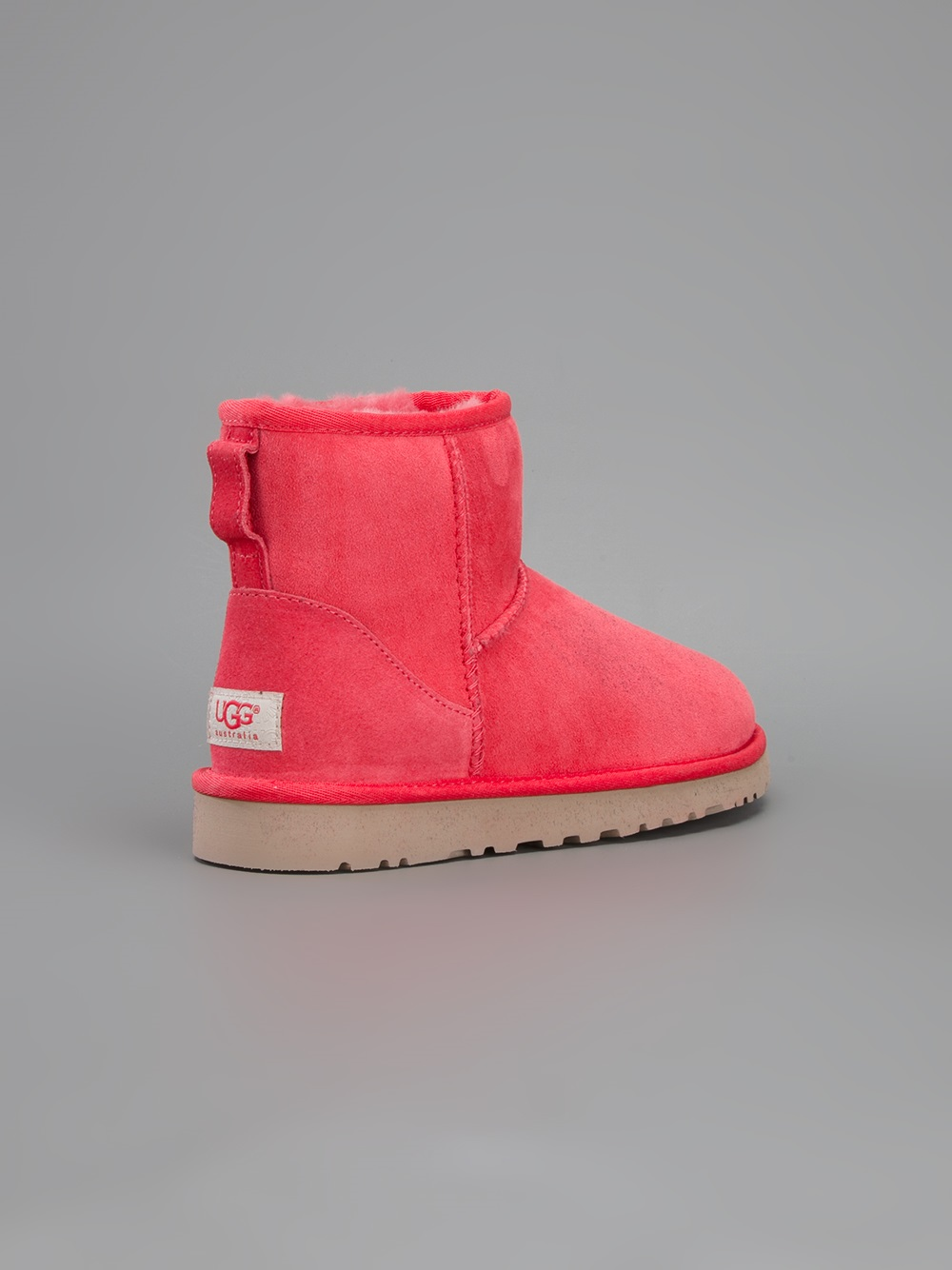 Lyst Ugg Classic Mini Boot In Red