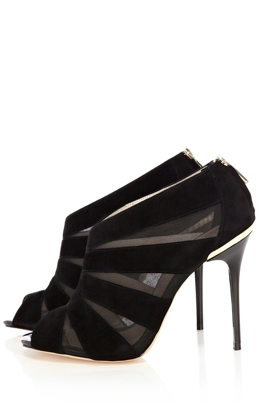 millen mesh and seude shoe boot in black lyst