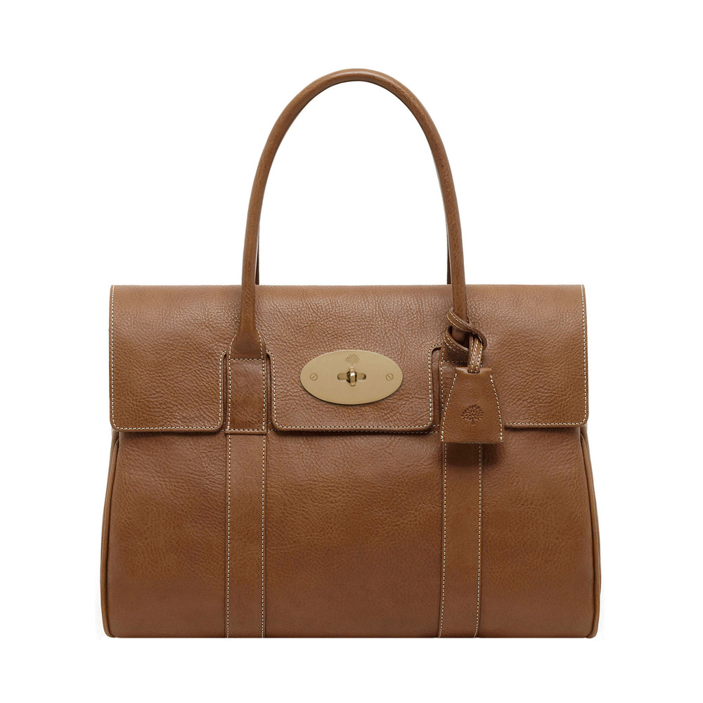 Mulberry bayswater leather bag in brown oak lyst for The bayswater