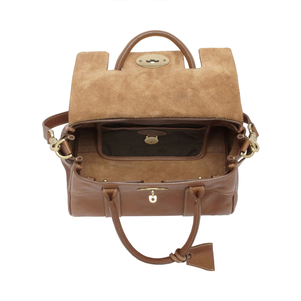 483994e336ef Mulberry Small Bayswater Leather Satchel in Brown - Lyst