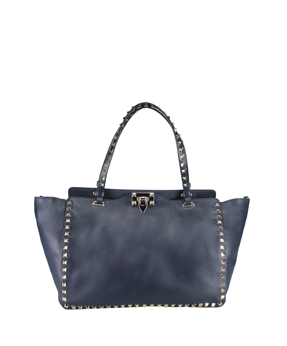 valentino rockstud medium bag in blue lyst. Black Bedroom Furniture Sets. Home Design Ideas
