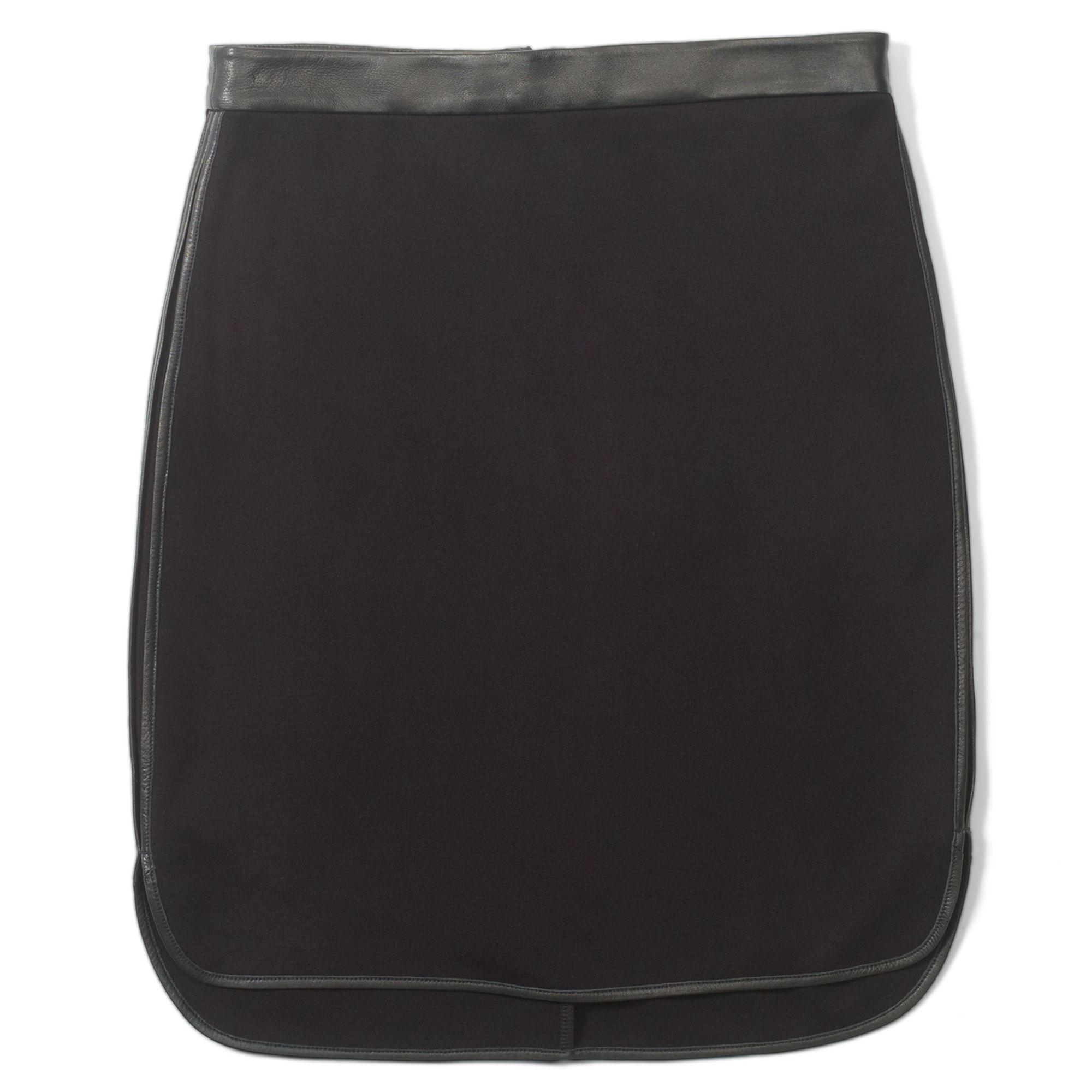 club monaco gretchen skirt in black black w faux leather