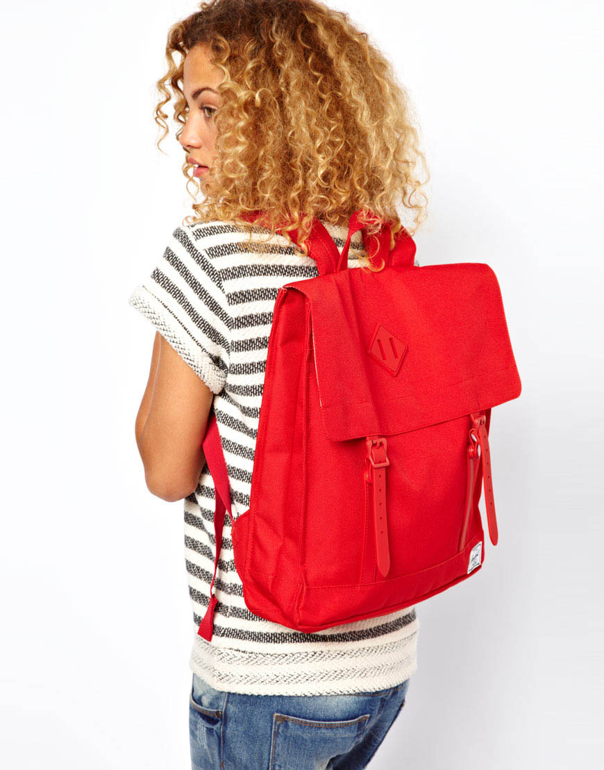 78dc3a8eeaf6 Lyst - Herschel Supply Co. Survey Backpack in Red