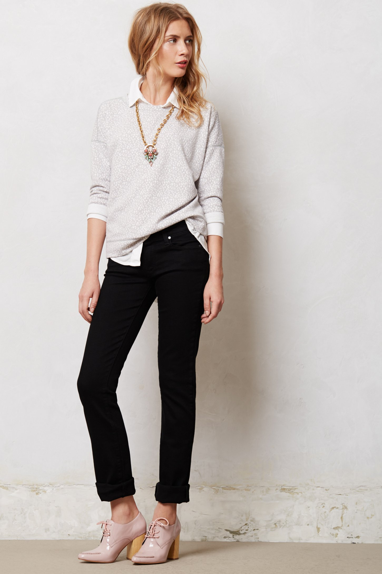 Paige Skyline Straight Jeans in Black | Lyst