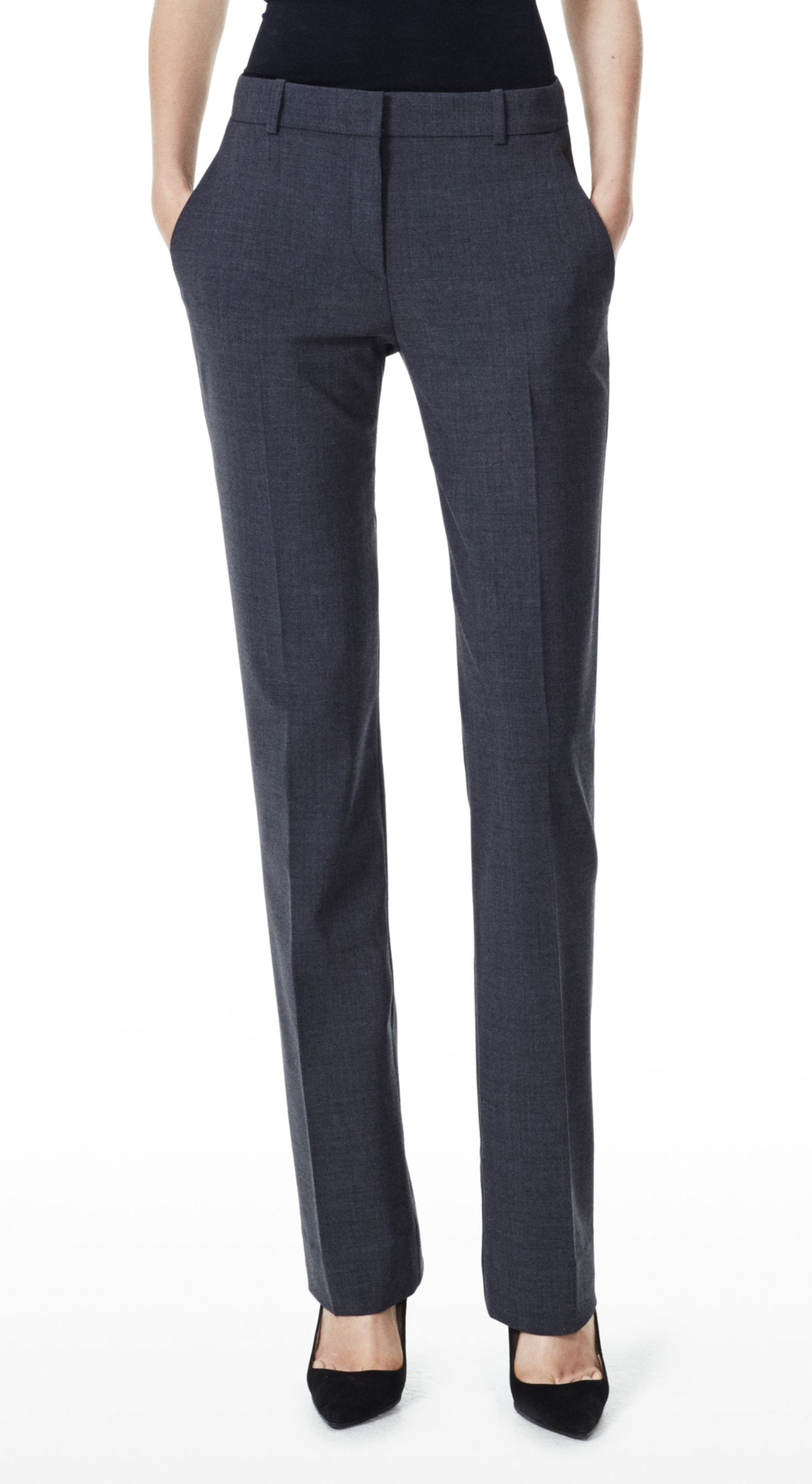 Theory Emery 2 Pant In Urban Stretch Wool In Black