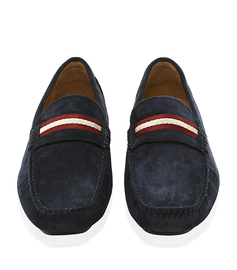 Bally Shoes Blue Suede