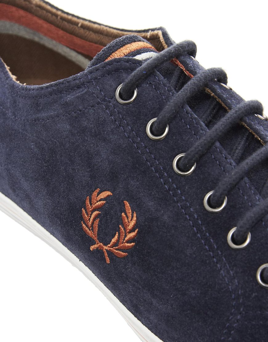Fred Perry Kingston Suede Plimsolls in
