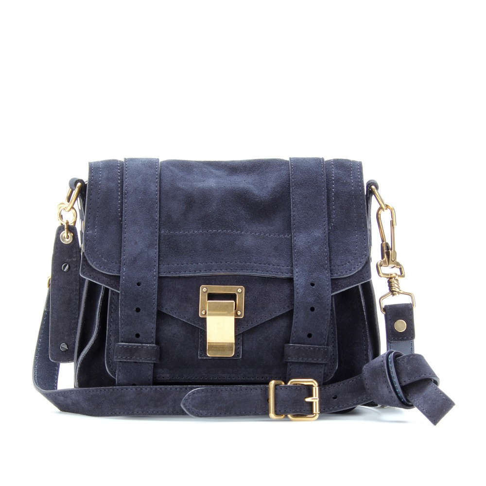 Proenza Schouler Navy Blue Leather Messenger Bag Nwt or2sei