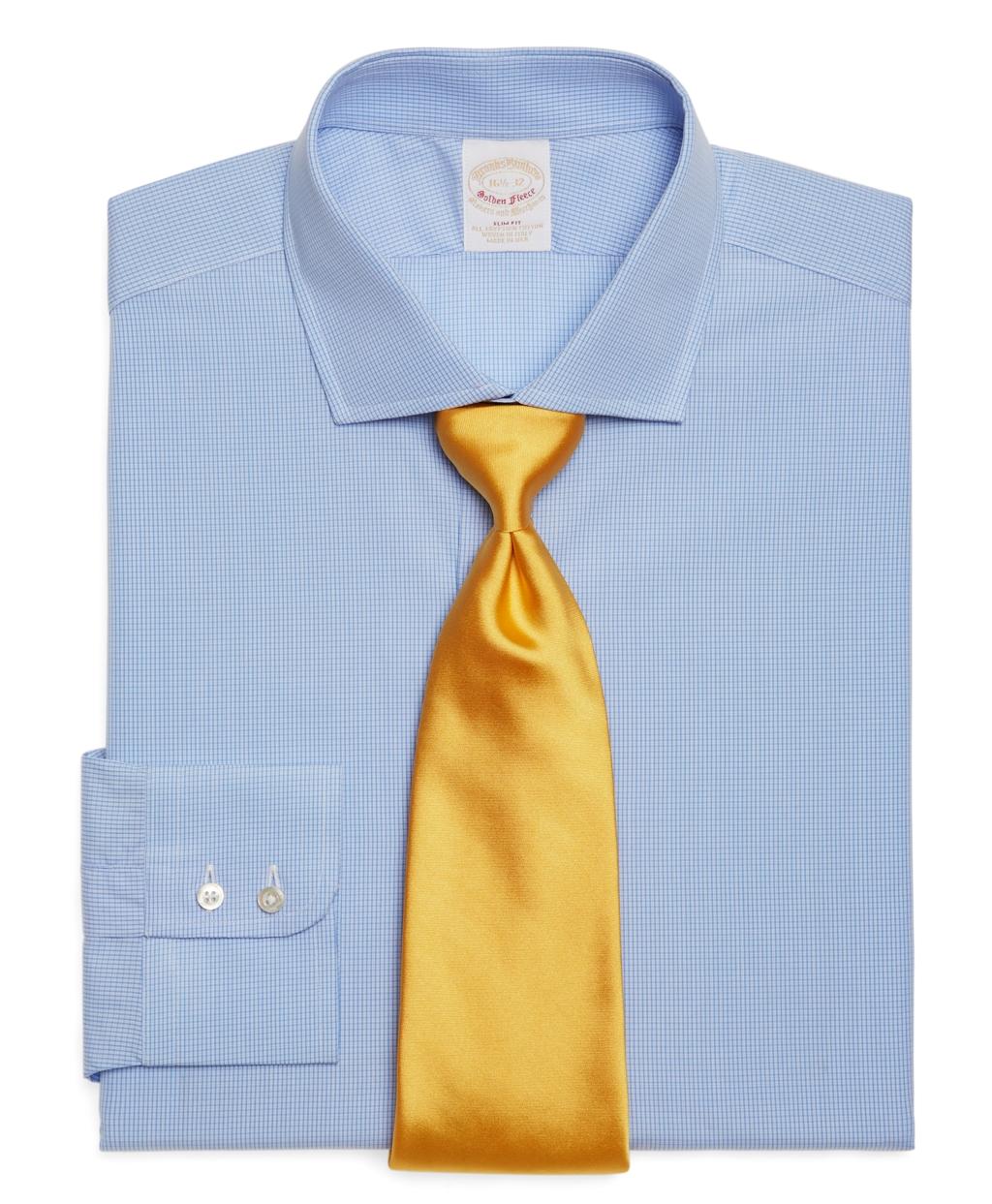 Brooks brothers golden fleece allcotton slim fit fine for Brooks brothers dress shirt fit guide