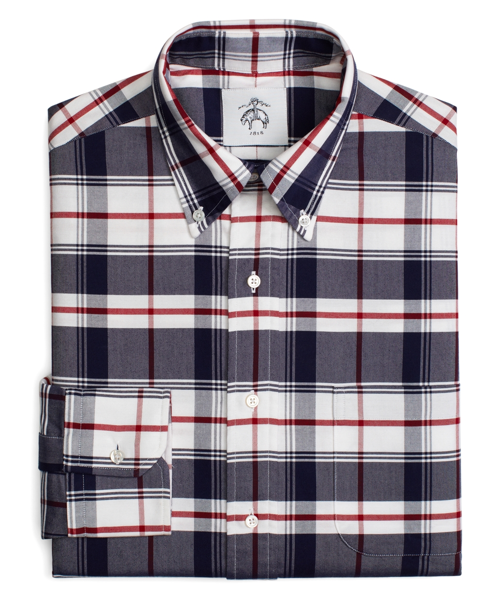 Lyst - Brooks brothers Tartan Button-Down Shirt in Blue for Men