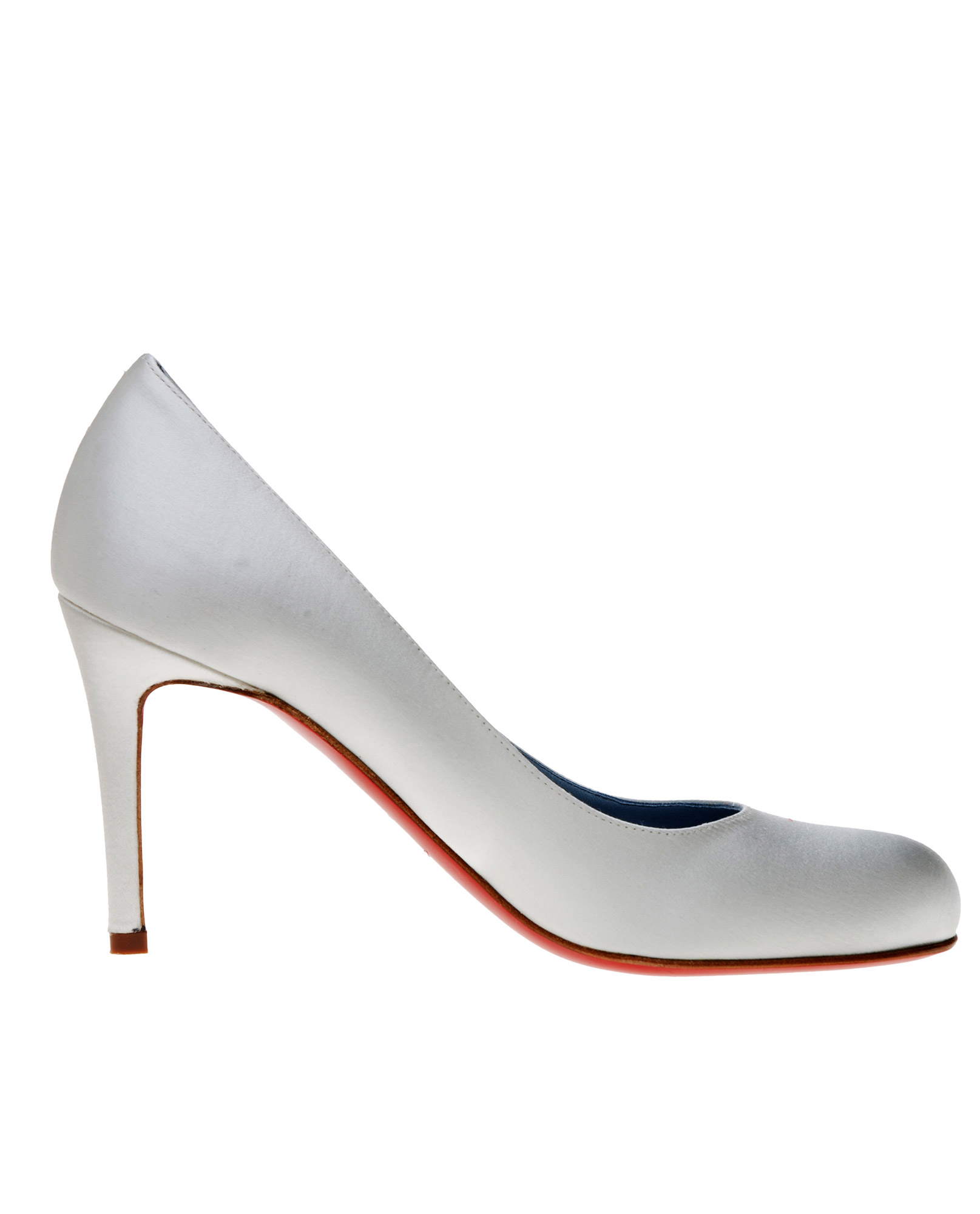 simple wedding shoes lyst christian louboutin the simple bridal shoe in 7524