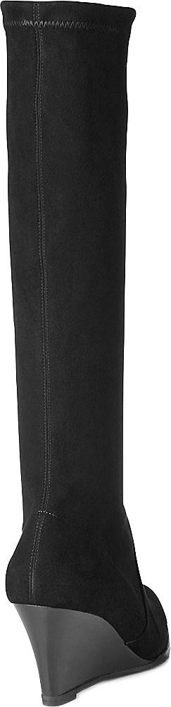L.K.Bennett Regan Suede Kneehigh Wedge Boots in Black