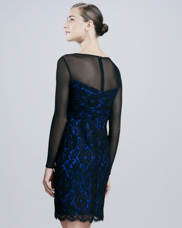 Illusion Lace Tail Dress