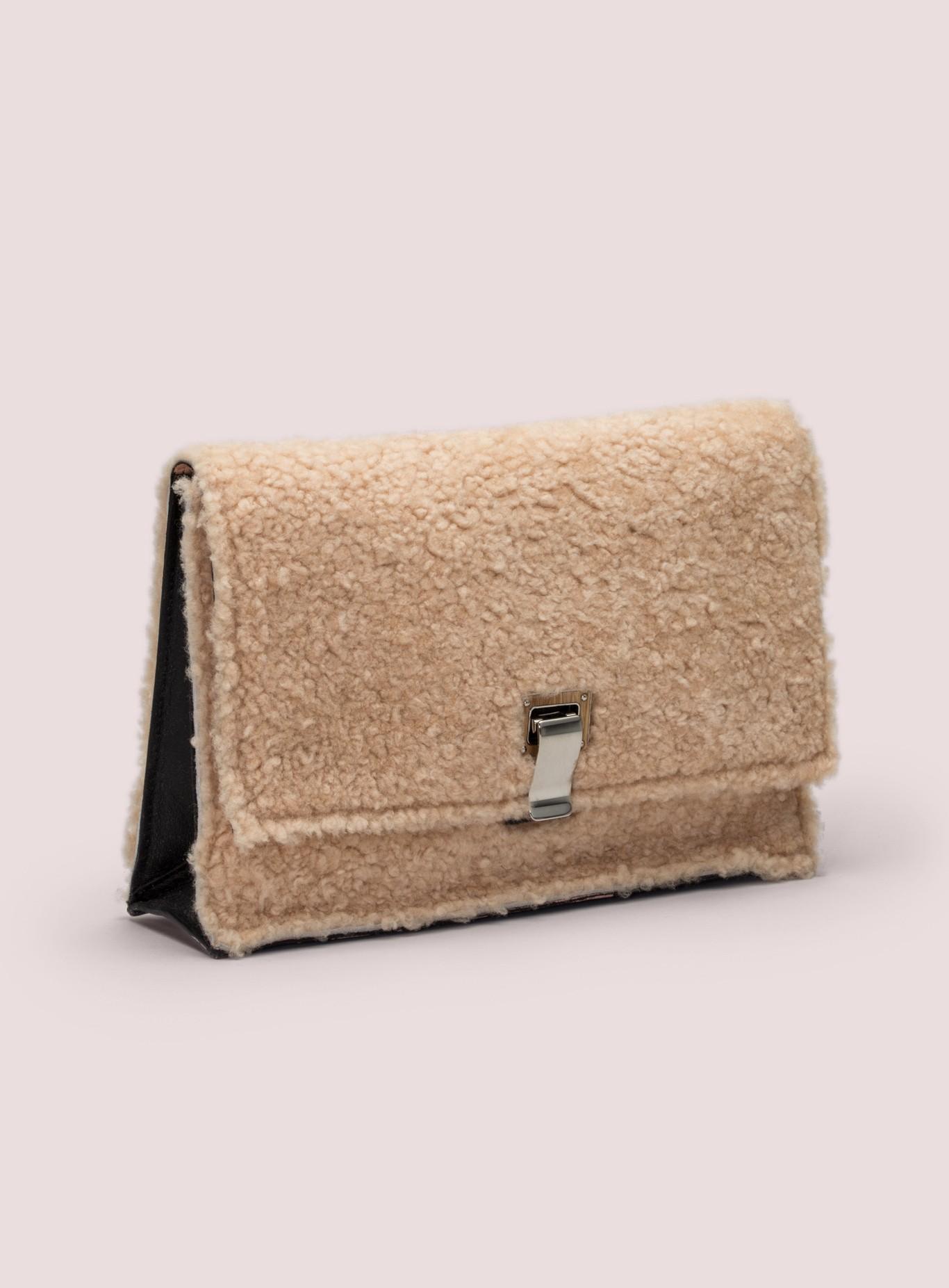 proenza schouler shearling small lunch bag in pink