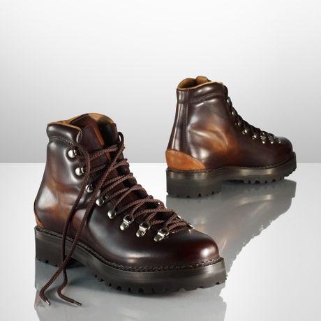 Ralph Lauren Fidel Ii Hand Burnished Boot In Brown For Men