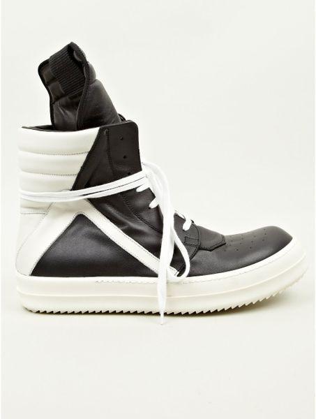 rick owens mens geobasket sneakers in black for lyst