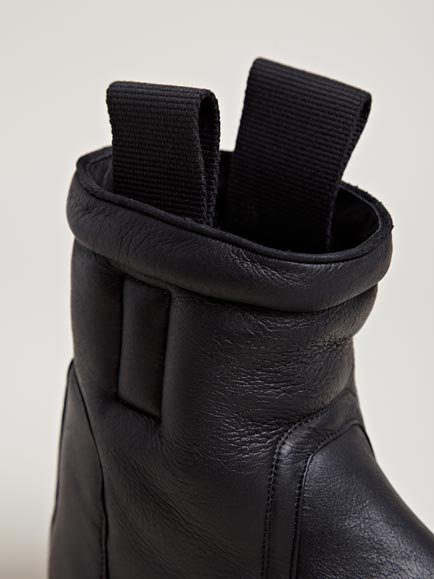 Lyst Rick Owens Mens Shearling Lined Boots In Black For Men