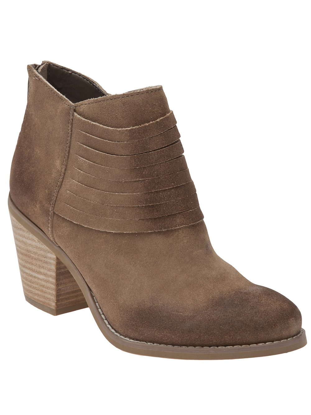 Lyst Seychelles Stacked Heel Ankle Boot In Brown