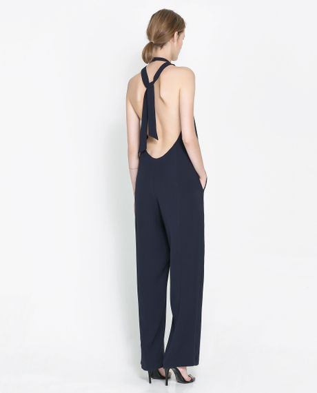 Innovative Zara Short Jumpsuit With Bow At Waist In Black  Lyst