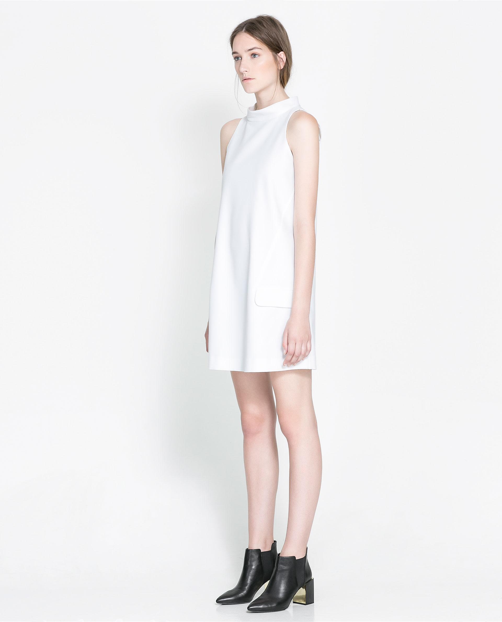 White Cocktail Dresses Zara 6