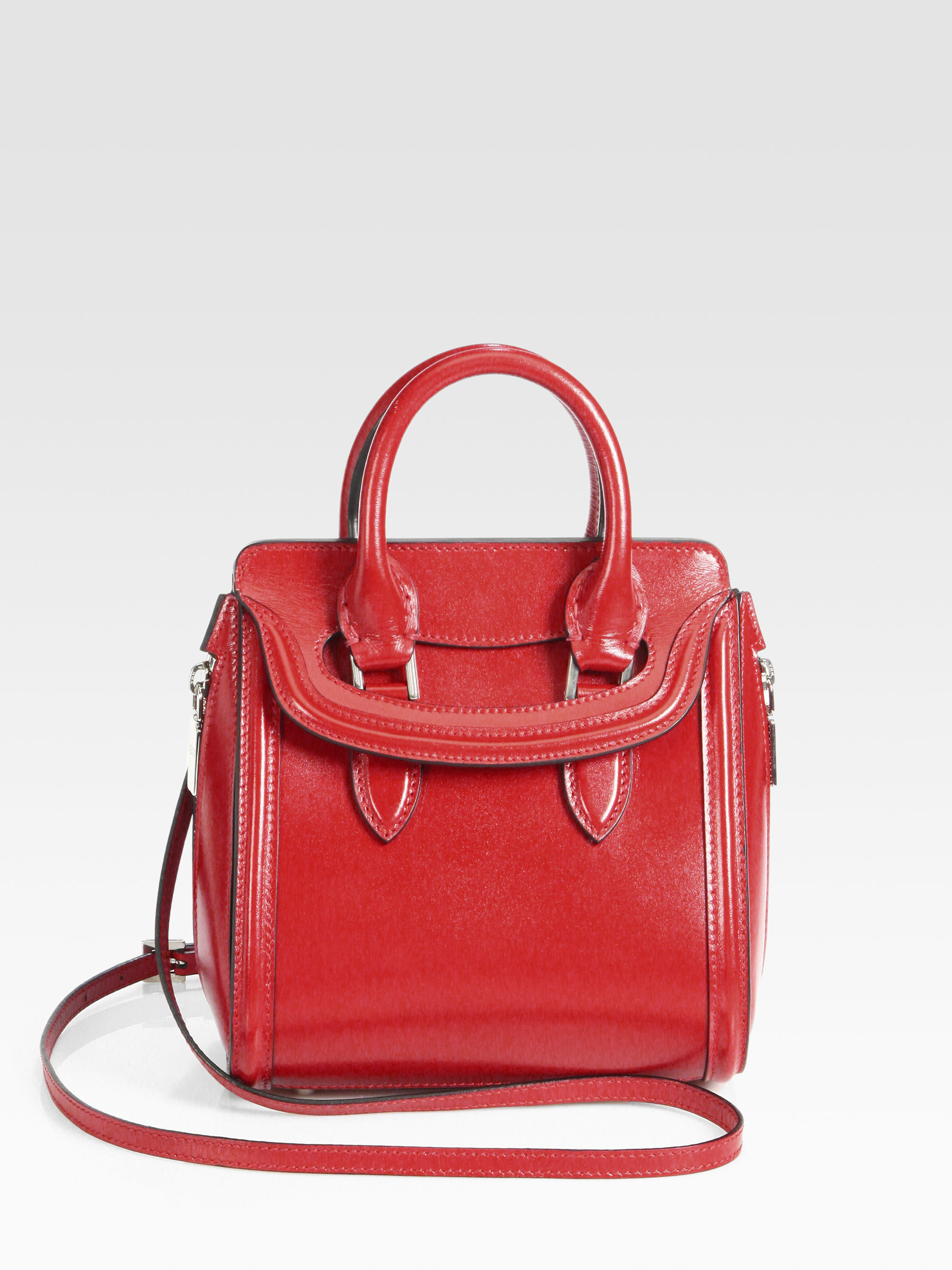 Alexander Mcqueen Heroine Mini Crossbody Bag in Red | Lyst