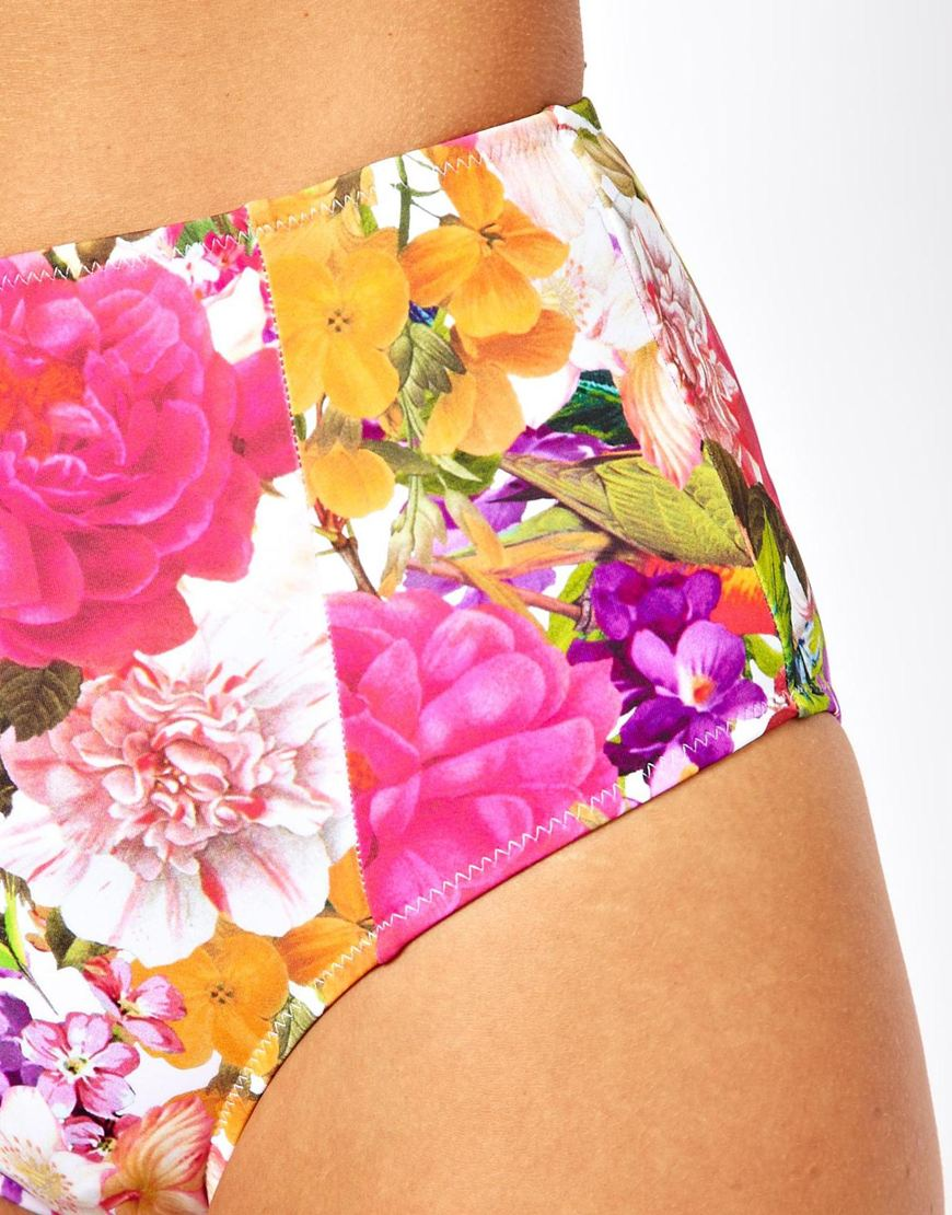 floral high waisted bikini - photo #36