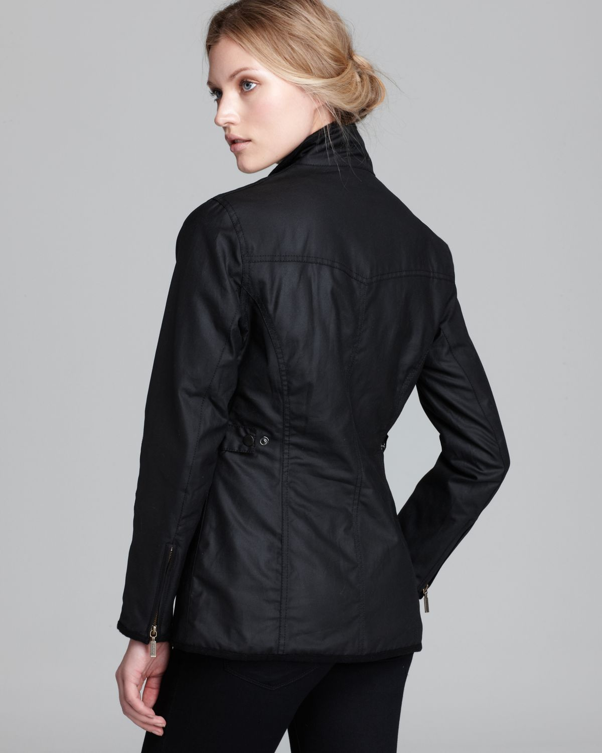 Barbour Jacket Utility Lightweight Waxed Cotton In Black