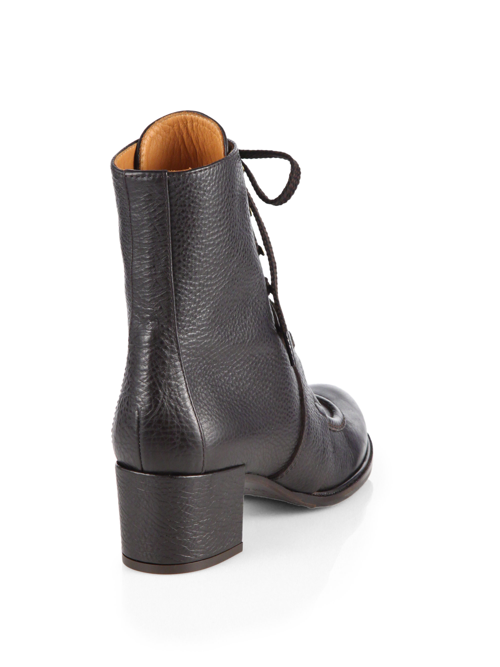 Chie Mihara Chapa Leather Laceup Ankle