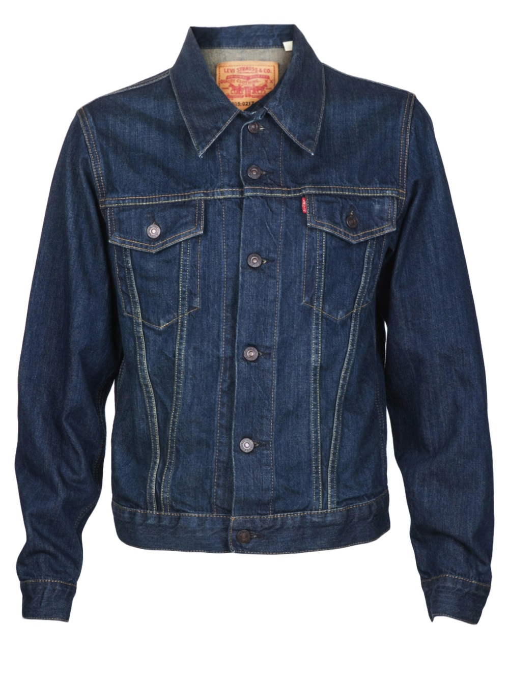 Levi 39 s type iii trucker jacket in blue for men lyst for Types of denim shirts