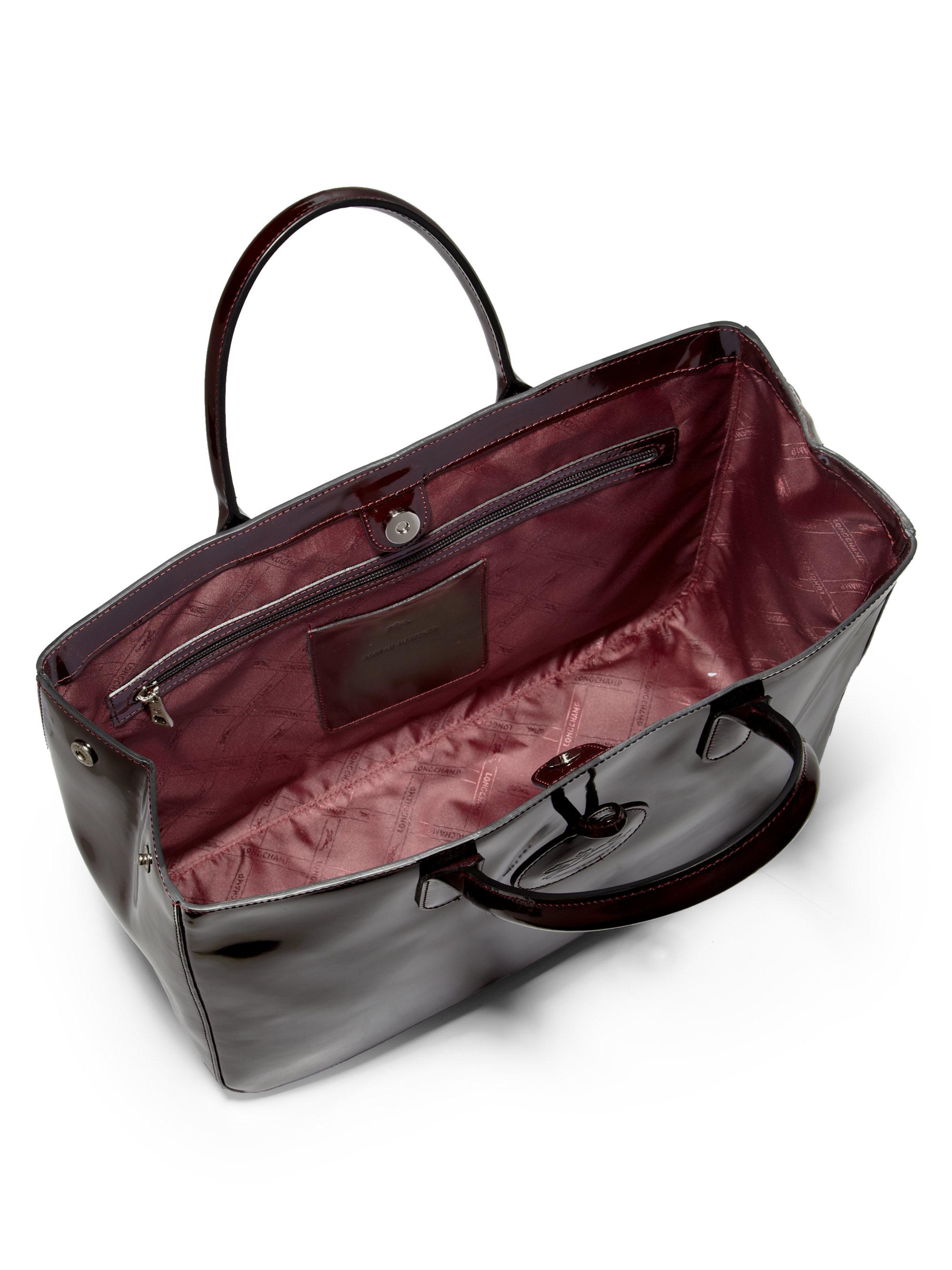 Longchamp roseau laukut : Longchamp roseau heritage large box tote in brown lyst