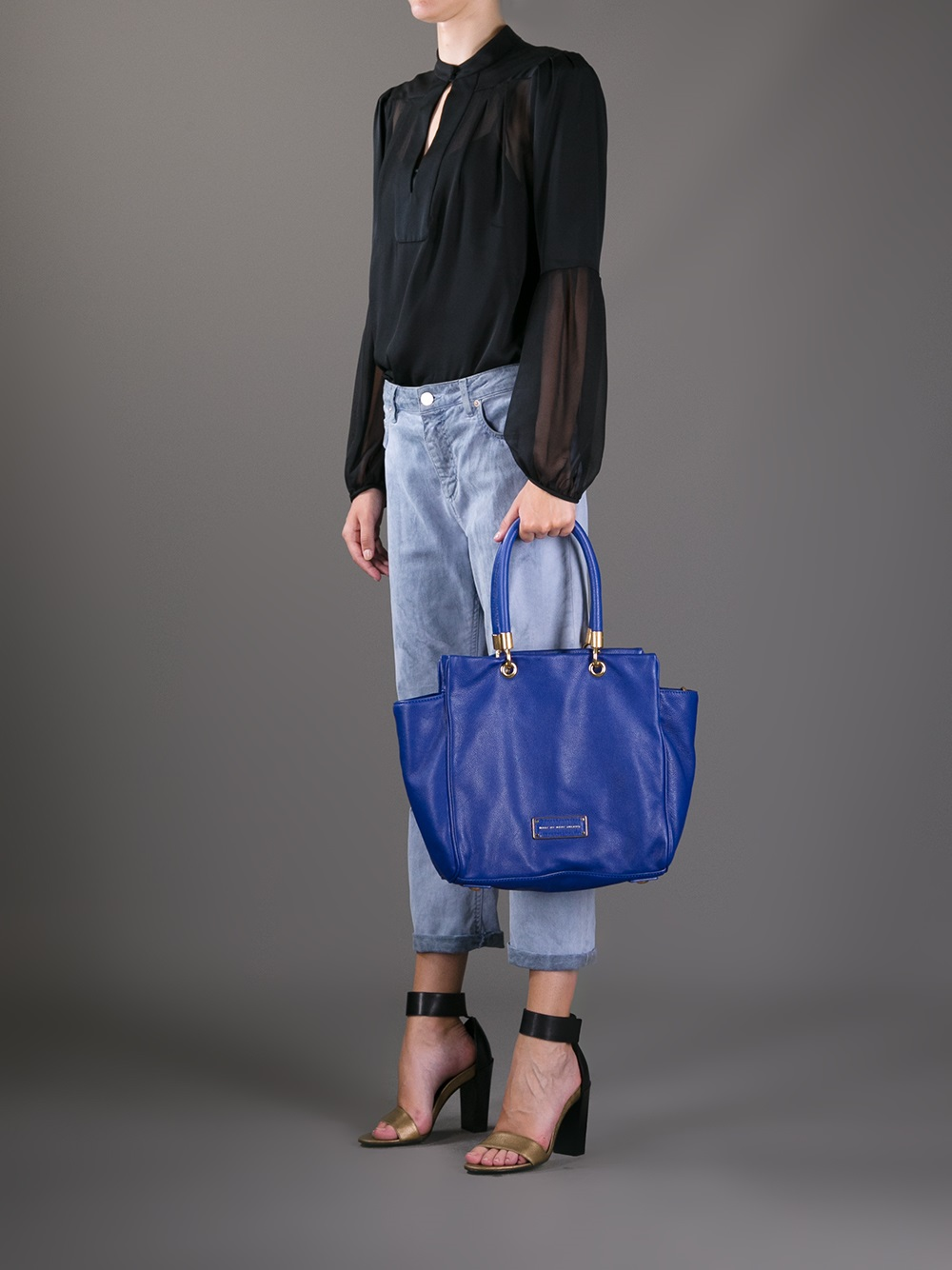 2aaa8c3a50c7 Lyst - Marc By Marc Jacobs Too Hot To Handle Bentley Tote in Blue