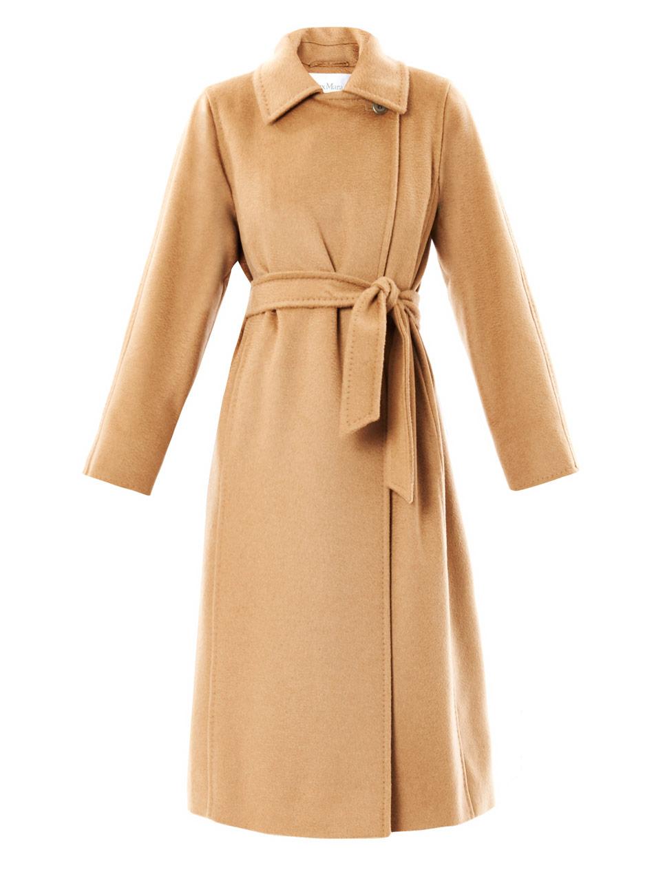 max mara manuela camel hair coat in beige camel lyst. Black Bedroom Furniture Sets. Home Design Ideas