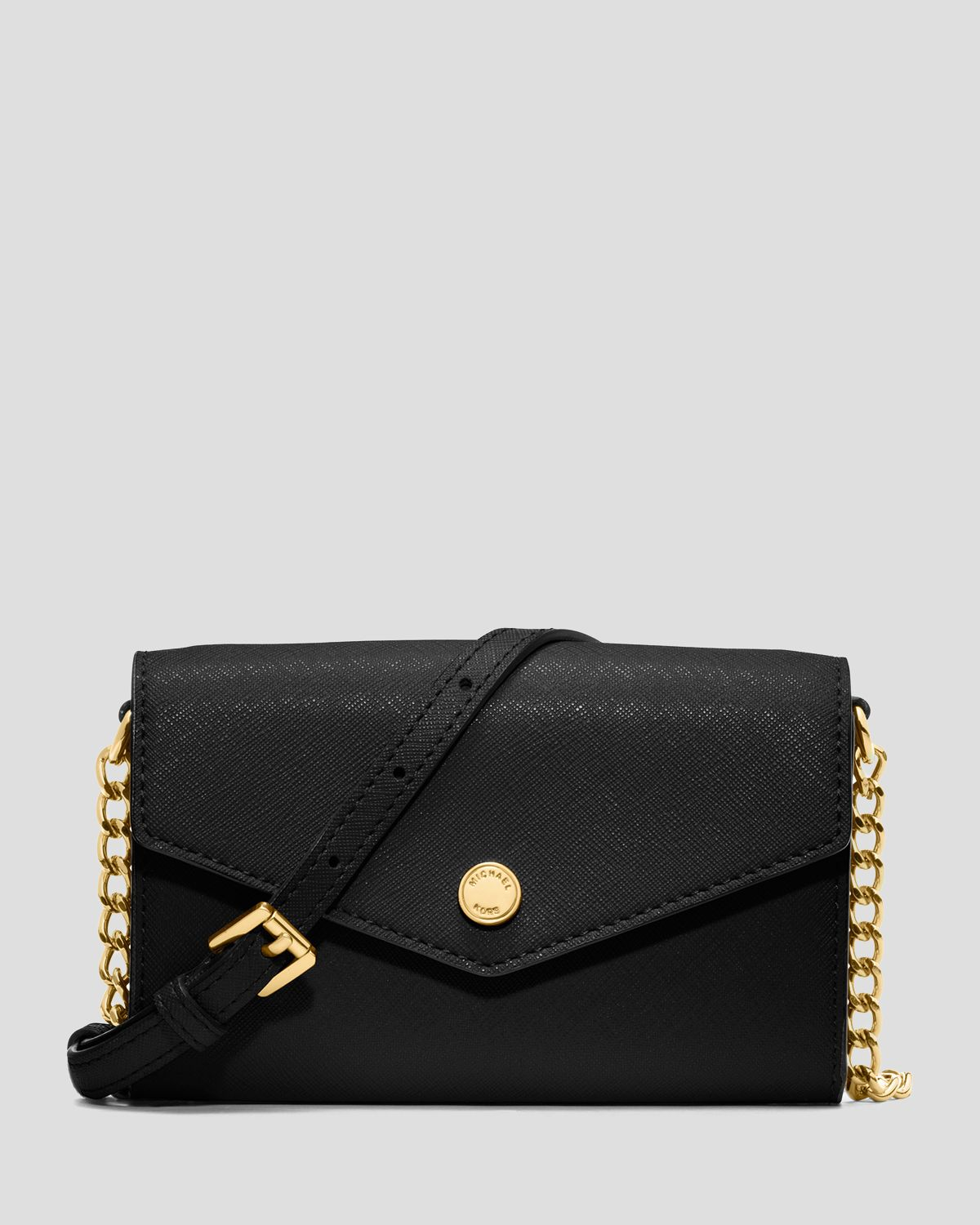 michael by michael kors crossbody iphone 5 in black lyst. Black Bedroom Furniture Sets. Home Design Ideas