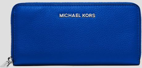 Reduced Michael Kors Wallets - Accessories Michael By Michael Kors Wallet Zip Continental Sapphire