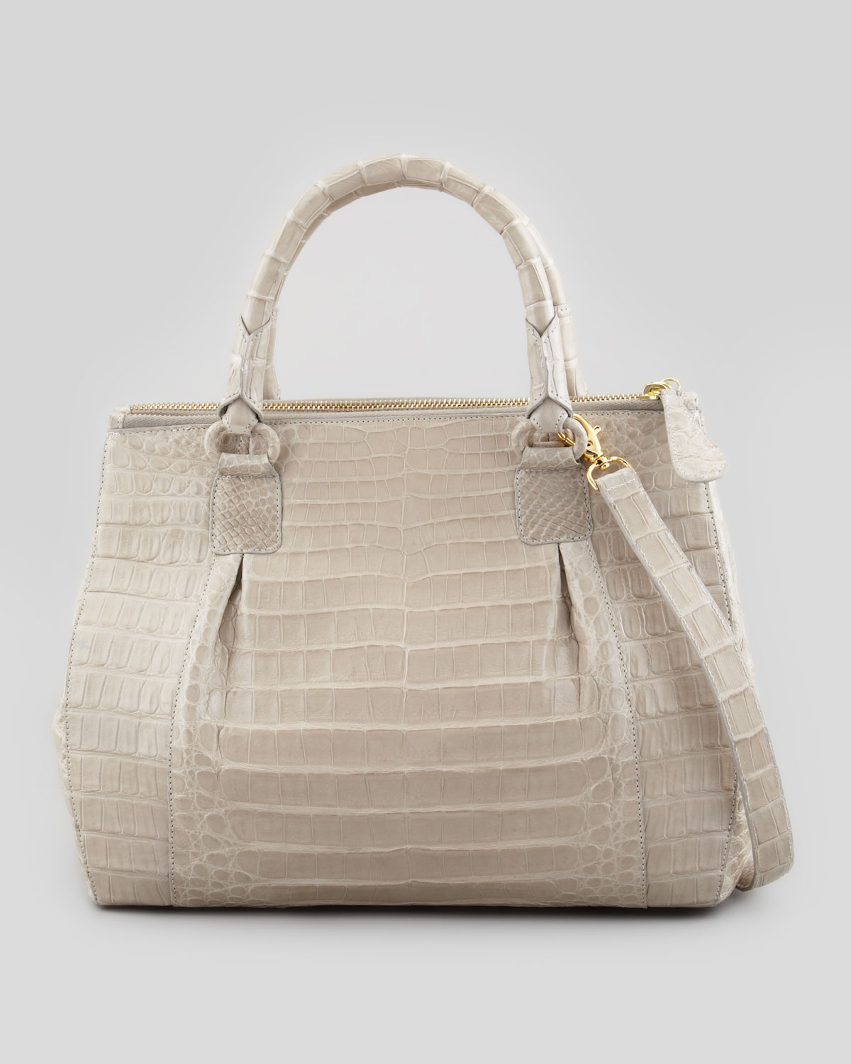 nancy gonzalez executive doublezip crocodile tote bag