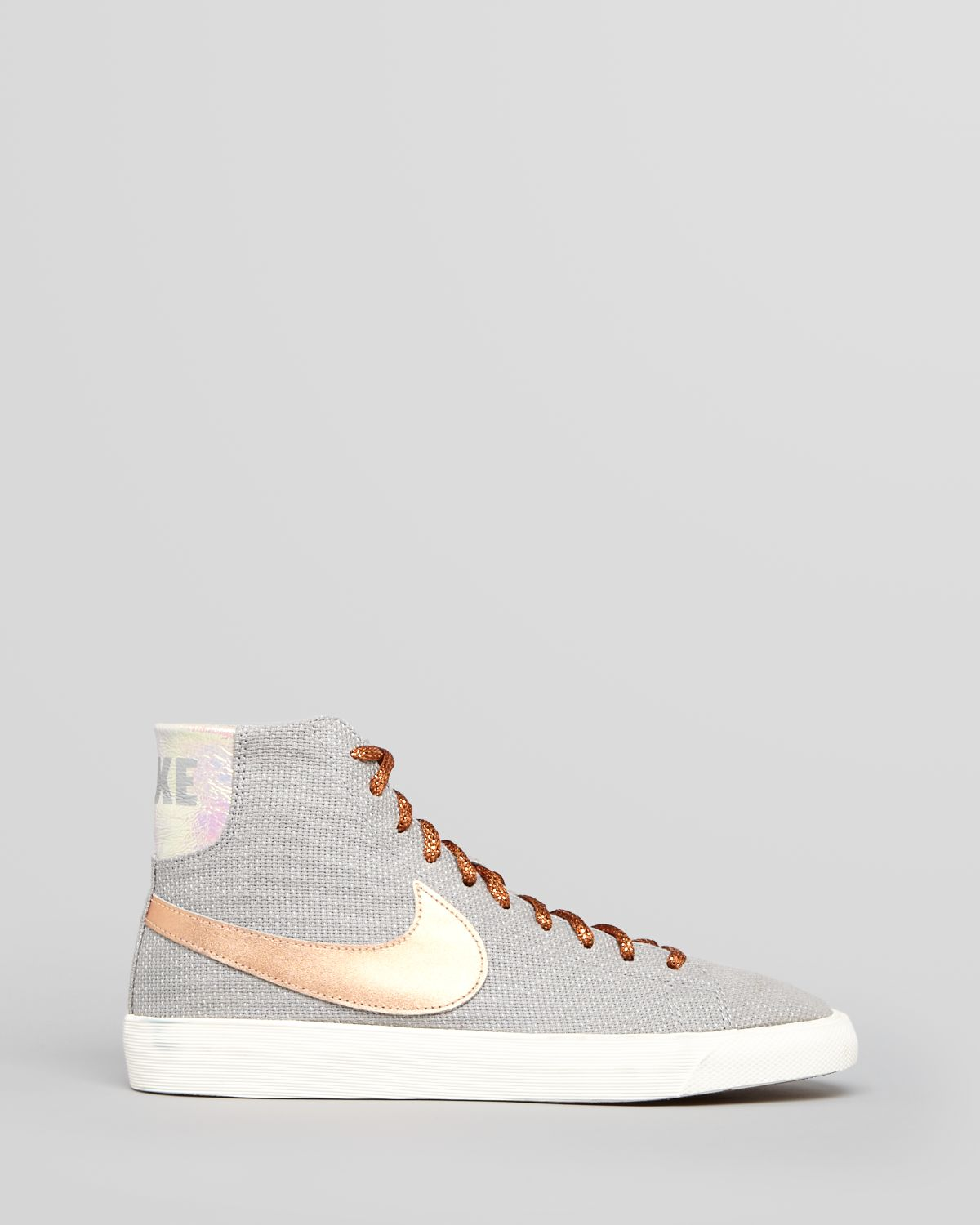 Lyst - Nike Lace Up High Top Sneakers Womens Blazer in Gray