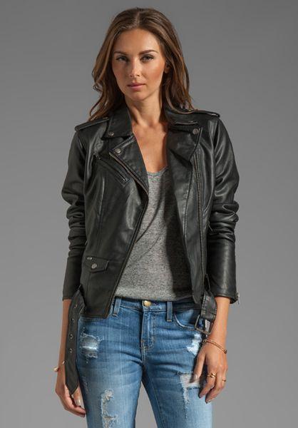 Obey Sweet Revenge Faux Leather Moto Jacket in Black in Black   Lyst