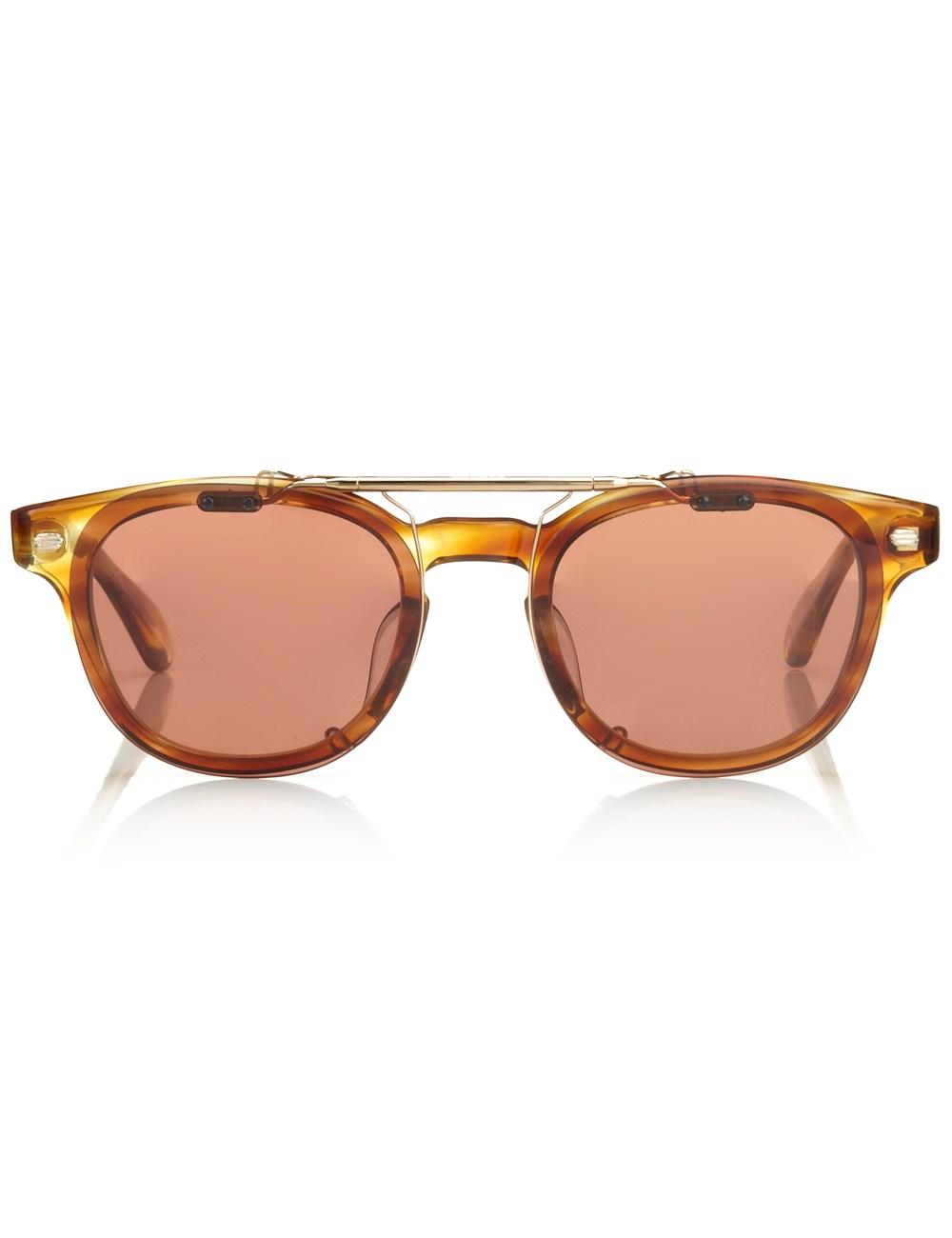 Oliver peoples golden tortoise tokyo sunglasses lyst for Oliver peoples tokyo