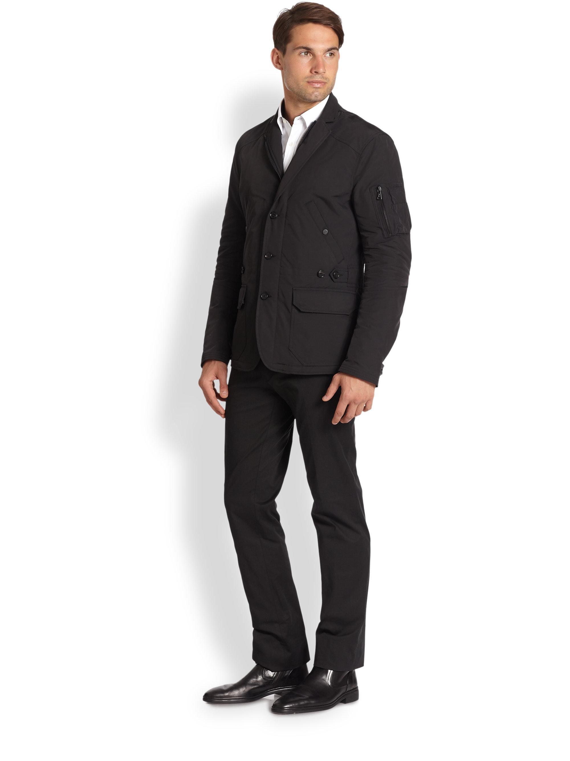 Ralph lauren black label Military Sportcoat in Black for Men | Lyst