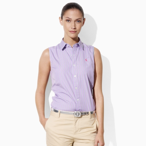 0b922fa00 Ralph Lauren Golf Betty Poplin Shirt in Purple - Lyst