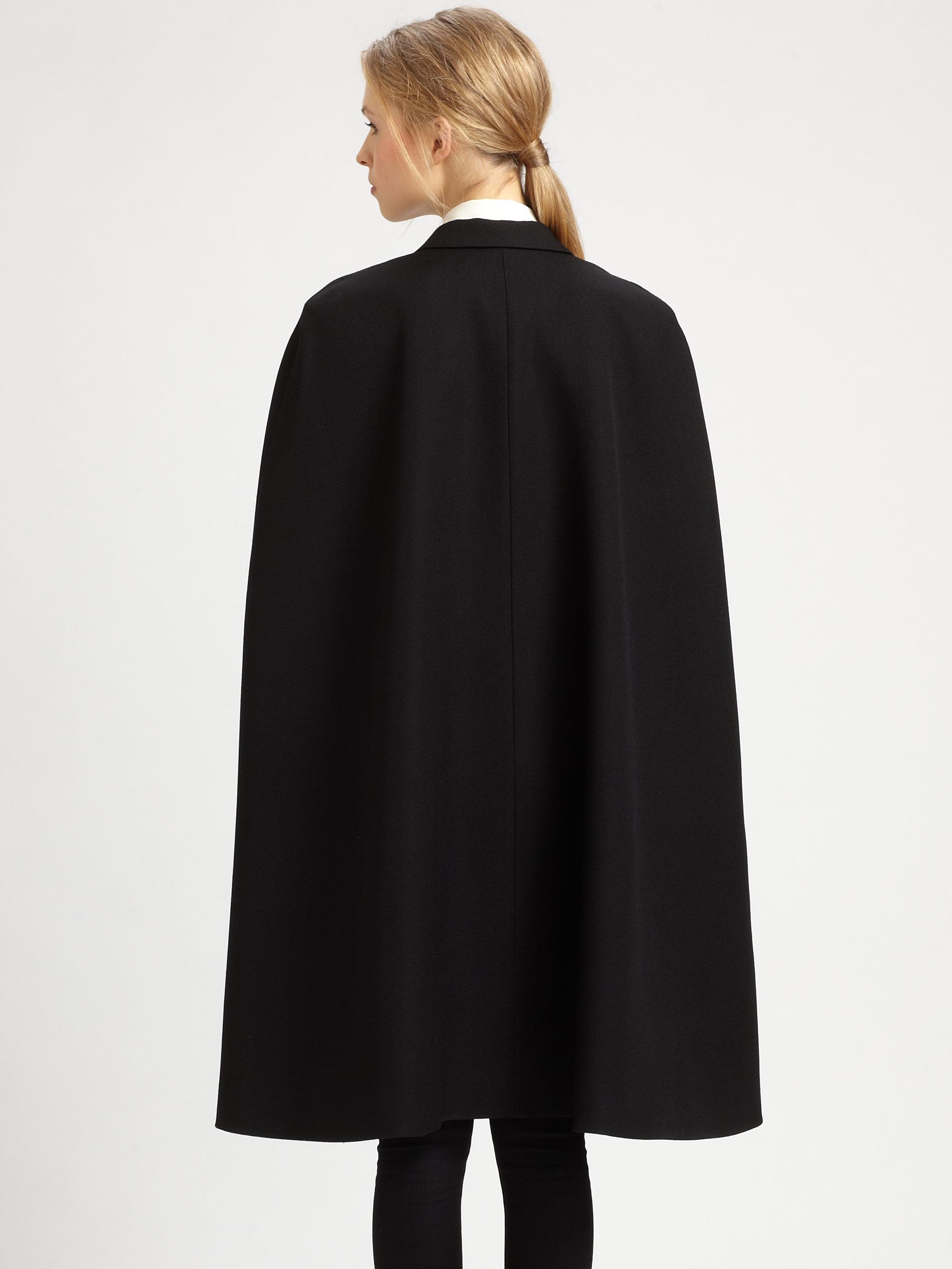 Lyst Saint Laurent Tuxedo Cape In Black