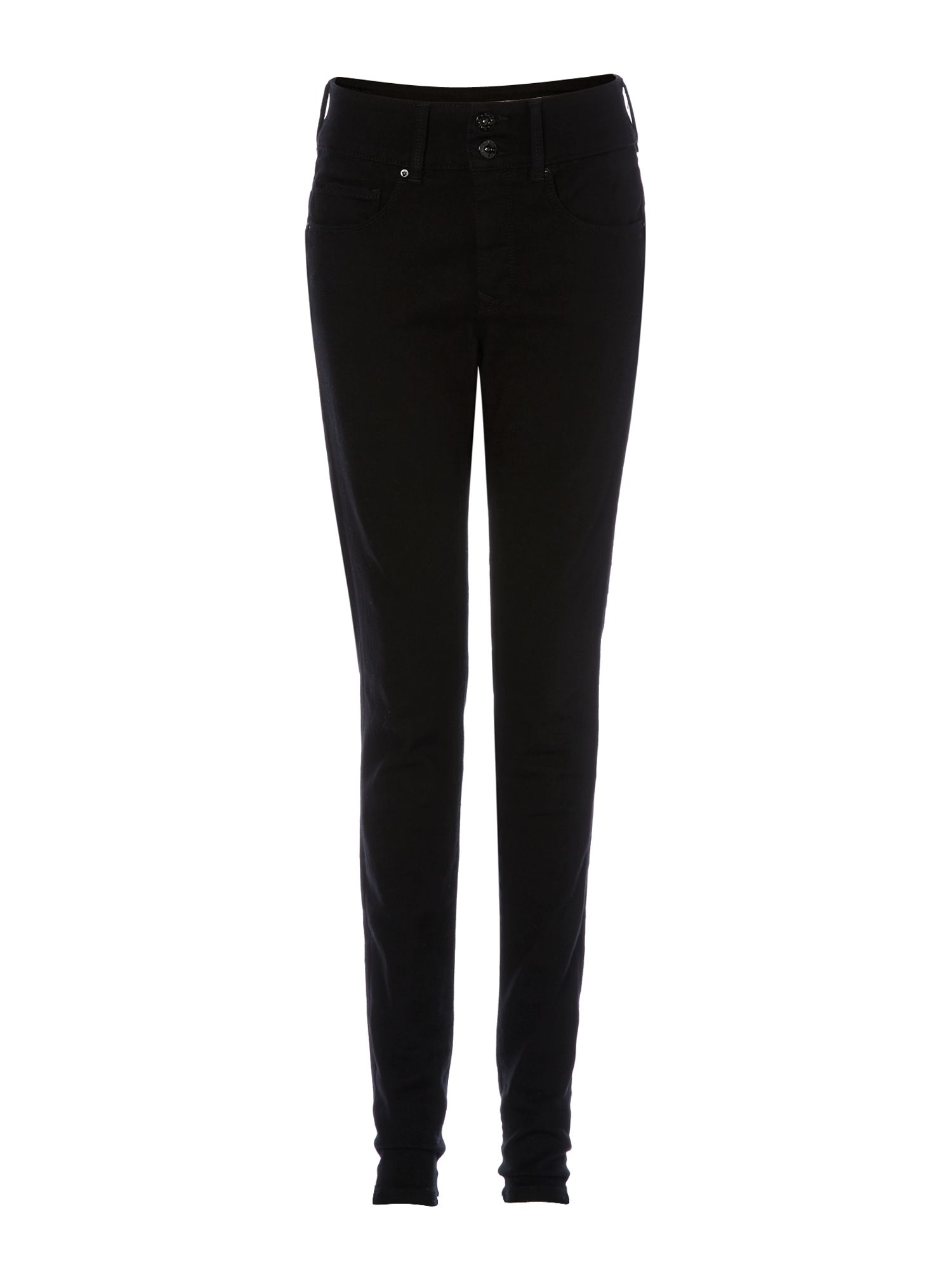 salsa secret push in skinny jeans in black in black lyst. Black Bedroom Furniture Sets. Home Design Ideas