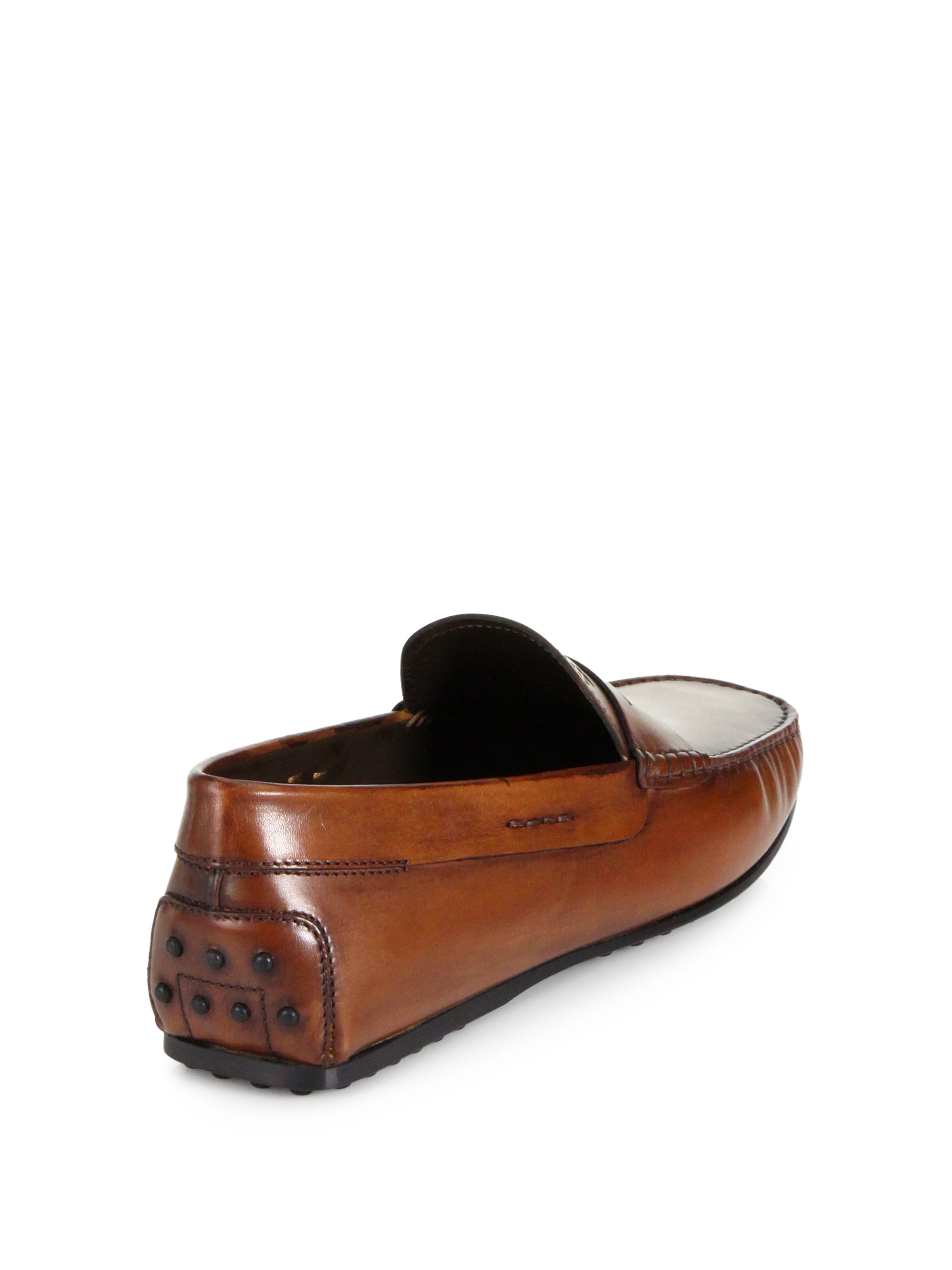 Lyst Tod S City Gommini Leather Loafers In Brown For Men