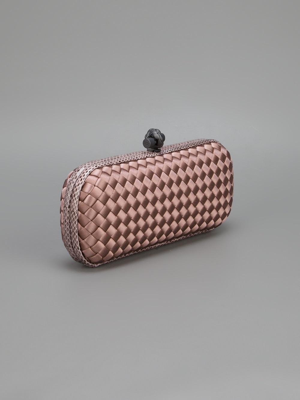 bottega veneta woven box clutch in pink lyst. Black Bedroom Furniture Sets. Home Design Ideas