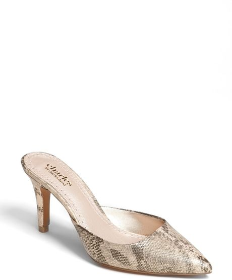 Charles By Charles David Lanie Pump in Pink (Gold Snake)