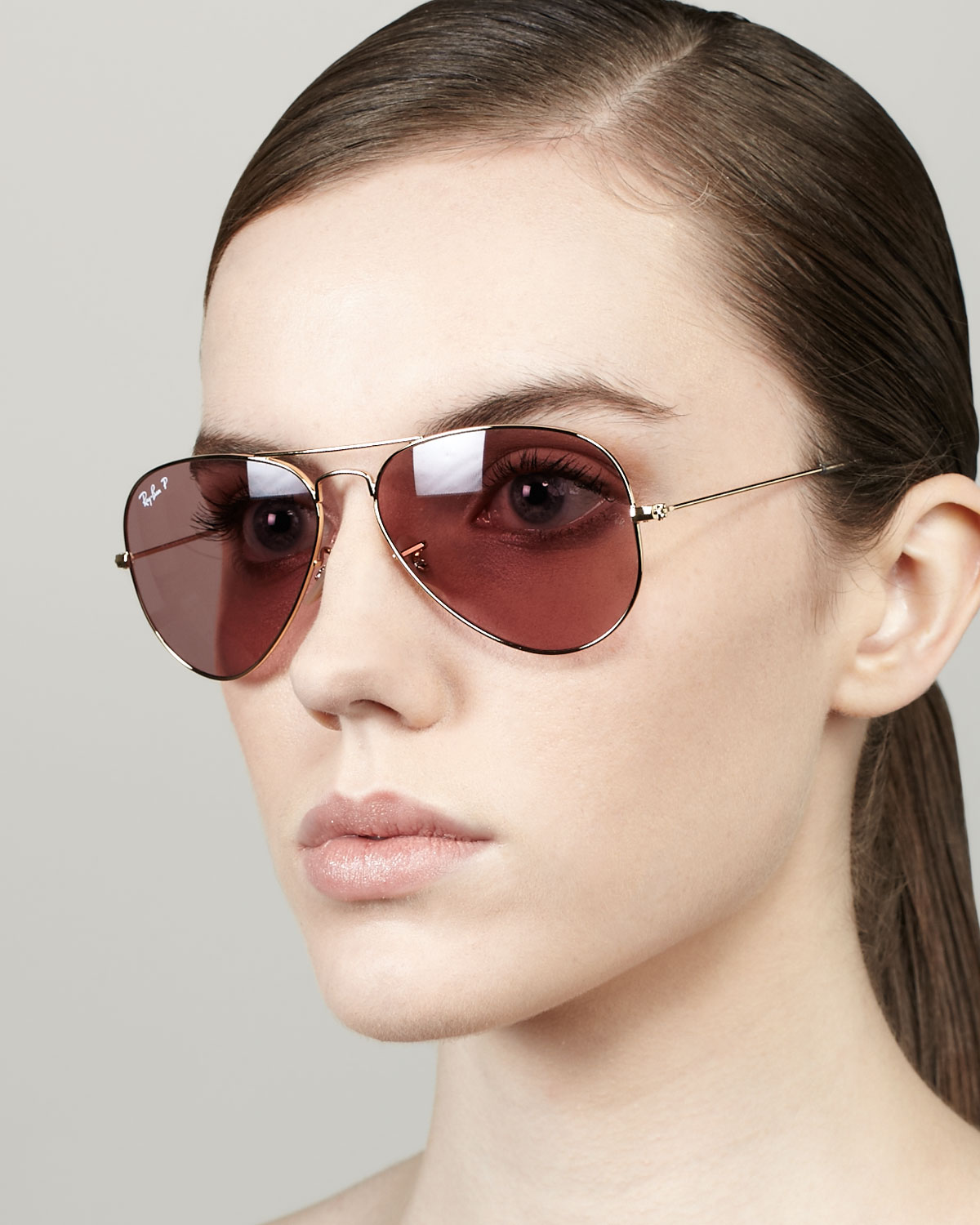 f57d7804c268f Ray-Ban Polarized Aviator Sunglasses Crystal Pink in Pink - Lyst