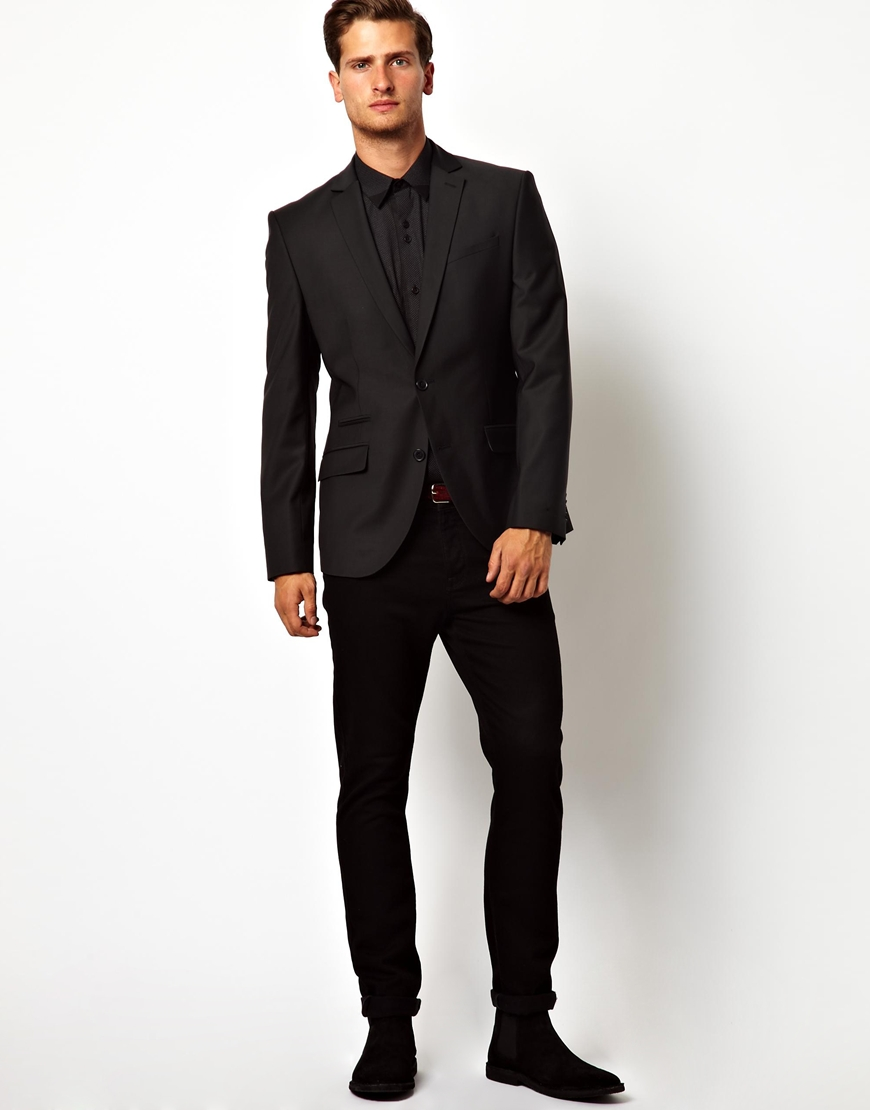 Asos Red Eleven Slim Fit Suit Jacket in Black in Black for Men | Lyst